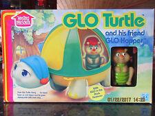 Vtg 80s Hasbro Glo Bug Glow Worm Friend Hasbro Figure TURTLE and HOPPER IN BOX!