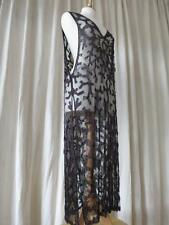 Fabulous Antique Art Deco 1920's Iredescent Beaded Tulle Over Dress