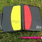 Sport Football Soccer Referee Wallet Pad with Red Card and Yellow Card Notebook