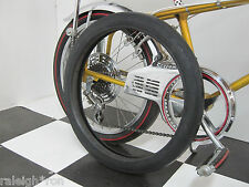 """New Black Wall 20 x 2.125"""" Duro Slick Bicycle TIRE for Banana Seat Muscle Bikes"""