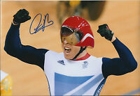 Sir Chris Hoy Signed 12x8 Autograph Photo AFTAL COA Commonwealth Games CHAMPION