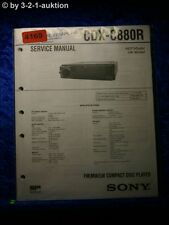 Sony Service Manual CDX C880R CD Player (#4169)