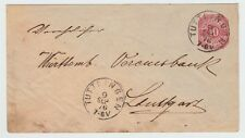 PC 1876 Germany TUTTLINGEN STUTTGART Postal Letter Envelope Cover