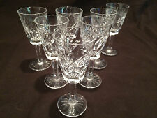 SET OF 7 WATERFORD CRYSTAL SHERRY GLASSES IN THE ASHLING PATTERN