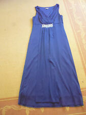 LADIES CUTE BLUE BEADED LINED SLEEVELESS DRESS BY KATIES  SIZE S - AUS 8/10/12