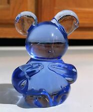 Blue Mouse Art Glass Paperweight