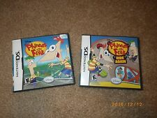 Nintendo DS Lot of 2 Games Disney Phineas and Ferb and Ride Again With Cases