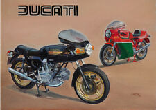 Ducati 900SS Desmo Mike Hailwood Replica Motorbike Motorcycle Birthday Card