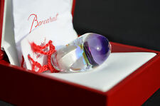 BACCARAT CRYSTAL TANGO RING CLEAR VIOLET SIZE 53 NEW IN BOX FRANCE JEWELRY