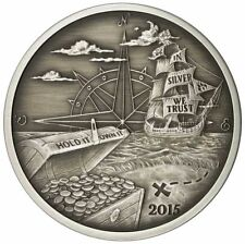 ANTIQUED 2015 FINDING SILVERBUG ISLAND REDDIT 1 oz .999 SILVER ROUND COIN