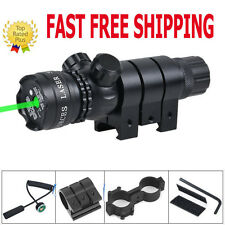 Tactical Hunting Green Laser Sight Outside Adjusted Rifle Scope & Mounts &Switch