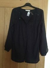 EVERYDAY SUGAR BLACK COTTON SHIRT SIZE S (BRAND NEW WITH TICKETS)