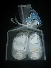 NWT Carter's Child of Mine Newborn Baby Girls Cream White Flower Crib Shoes NB