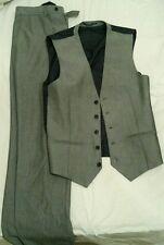 MEN's Next Grigio Pantaloni e Cappotto Vita alta ottime condizioni