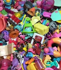 Littlest Pet Shop Lot Of 15 RANDOM Pieces Toy Food Clothes Bows & Crystal Collar
