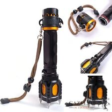 CREE XML-T6 Safety Hammer Flashlight Alarm Twine Knife Torch FOR Hunting Hiking
