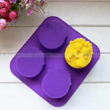 4Cavity Cute Boy Girl Angel Flower Silicone Candle Soap Molds DIY Cake Mould