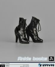 "ZYTOYS 1/6 Black High-Heel Boots Shoes For 12"" Female PH Figure Body ZY16-28"