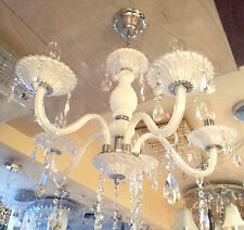 Decorative Marble White Italian Chandelier