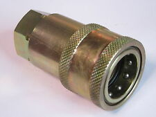 "3/4"" BSP Female Carrier Hydraulic Quick Release Connector Coupling #11A62"