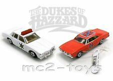 THE DUKES OF HAZZARD *GENERAL LEE & ROSCOE'S SHERIFF'S Car 1:64th ERTL Diecast