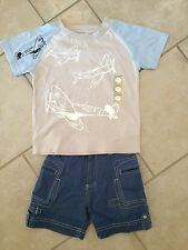 Shilav airplane pilot outfit (s/s shirt and cargo shorts), size US 4T