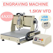 4Axis CNC Router Engraver USB 1.5KW Engraving Milling Machine Mach3 6040 Desktop