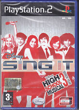 Ps2 PlayStation 2 DISNEY SING IT HIGH SCHOOL MUSICAL 3 SENIOR YEAR Nuovo Italian