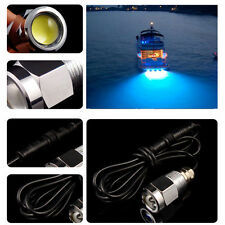 """Blue 6 led 1/2"""" NPT Underwater Boat Drain Plug Light with connector for fishing"""