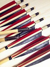 12Pcs Chinese Traditional Cedar wood arrow longbow wooden arrows good quality