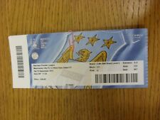 19/09/2015 Ticket: Manchester City v West Ham United  . Thanks for viewing this