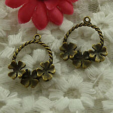 free ship 55 pieces bronze plated garland charms 24x21mm #3002