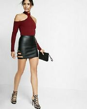 nwt express mockneck cold shoulder small S tee tank top blouse shirt red maroon
