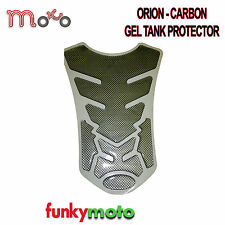 MOTORCYCLE MOTORBIKE TANK PROTECTOR PAD CARBON FIBRE EFFECT ORION GEL STICK ON