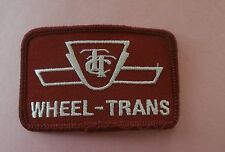 TTC Wheel-Trans - Toronto Transit Commission Logo New Patch