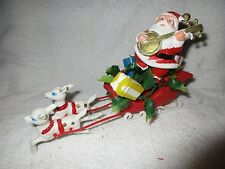 Vintage 1960's-70s's Santa, Sleigh & Reindeer Christmas Holiday Decorations