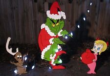 Grinch Yard The Grinch & Max & Cindy Lou Who steal Christmas Decorations Outdoor