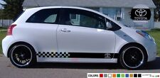 Sticker Stripe for Toyota Yaris vitz light bumber light tail mirror rear head rs