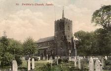 St Swithin's Church Sandy pc used 1904 F79 Duplex postmark