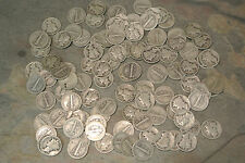 100 (two rolls) 90% Silver Mercury Dimes 1916 - 1945  *BUY IT NOW*  Fast Ship'n