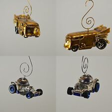 Star Wars C3PO & R2D2 Vehicles RARE Custom Christmas Ornament SET! 1/64th Scale