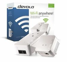 DEVOLO 9633 POWERLINE DLAN 550 WIFI STARTER KIT WITH 2 ADAPTERS/PLUGS
