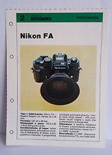 D14  Scheda Tecnica Progresso Fotografico n.2 Fotocamere - Nikon FA