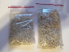 500 Silver Plated Hook and Eye Clasp Findings for Jewelry