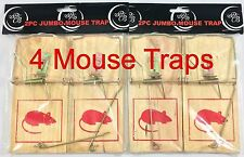 4pc Jumbo Snap Spring Mouse Rat Traps