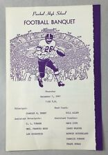 1967 Paschal High School Football Banquet Program Schedule Fort Worth Texas