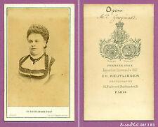 CDV REUTLINGER : PAULINE GUEYMARD ARTISTE LYRIQUE , SOPRANO OPÉRA VERS 1867 -J83