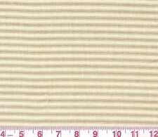 100% Cotton Golding Beige Brown Ticking Stripe Upholstery Fabric Sonora Ashe BTY