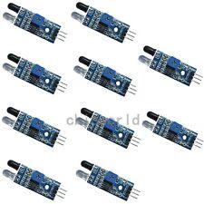 10 X IR Infrared Obstacle Avoidance Sensor module for Smart Car Arduino Robot UK