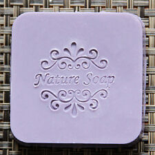 Custimize Natural Handmade Patterns Soap Stamp Mold Natural Acrylic Glass DIY